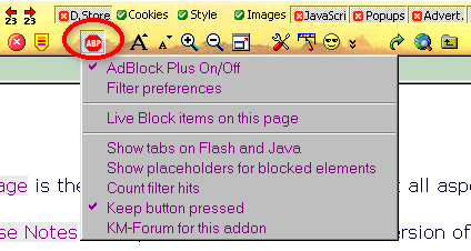 Adblock Plus Version 2 6 7 for 75b3