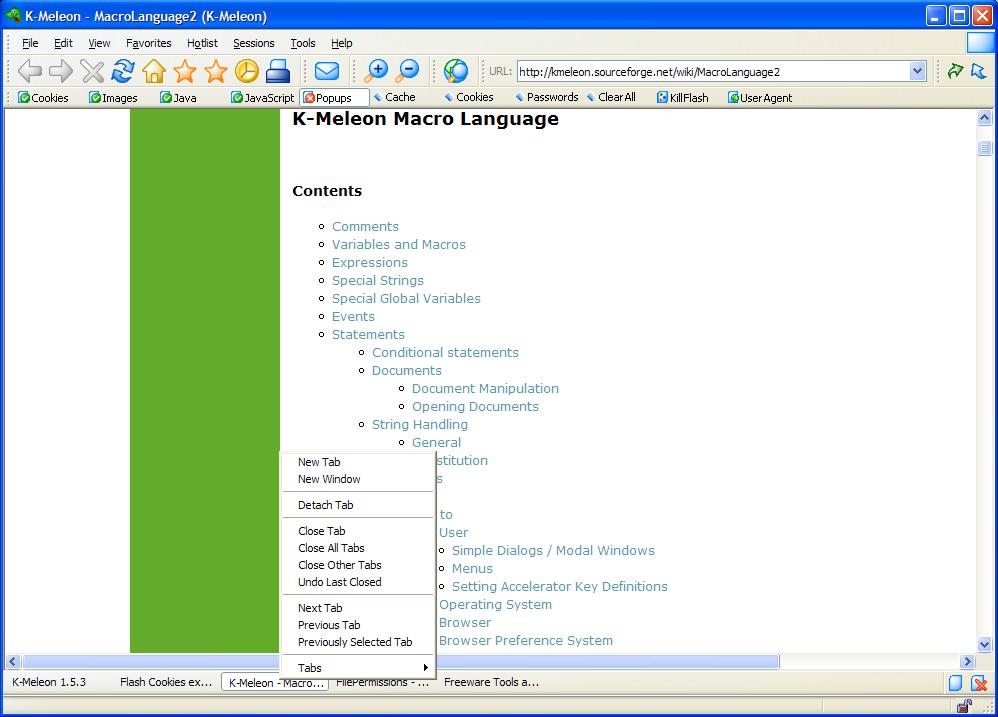 K-Meleon Ekran Görüntüleri - 3
