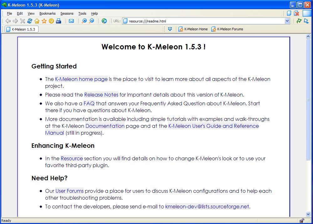 K-Meleon Ekran Görüntüleri - 1