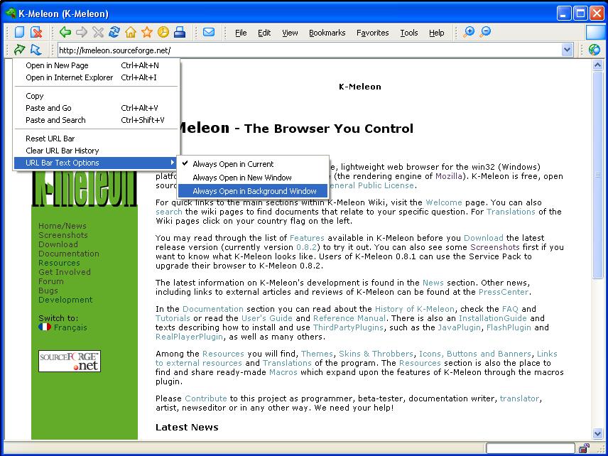 Download K-Meleon (Web Browser ringan dan cepat) Terbaru